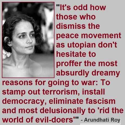 Arundhati Roy on peace